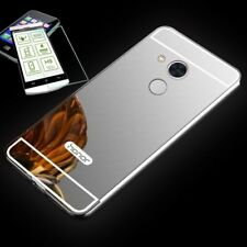 Pare-chocs en aluminium de 2 pièces argent + 0,3 H9 Verre de Huawei Honor 6A