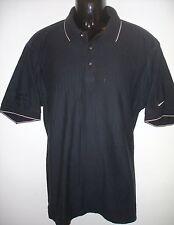 Mens Black NIKE GOLF Short Sleeve Casual Polo Shirt ~ Canon Power Shot ~ Size L