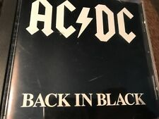 AC / DC   BACK IN BLACK 1980 Printing: Hard Rock CD No Bar Code! First Pressing