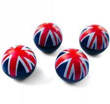 Union Jack Ball Ventilkappen x4 Mini