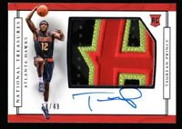 TAUREAN PRINCE /49 RPA ROOKIE AUTO JERSEY PATCH RC SP 2016-17 NATIONAL TREASURES