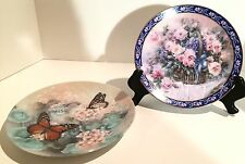 Vintage Collectors Plates, Artist Lena Liu, Produced by Ws George Fine China
