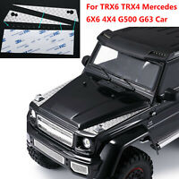 Para TRX6 TRX4 Benz G500 G63 RC Car Metal Hood Anti-skid Plate Protection Set