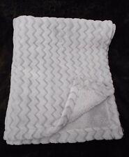 Target Circo Baby Blanket Solid Grey Chevron Stripe Zig Zag Textured Soft Plush