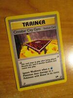 NM (Unlimited) Pokemon CINNABAR CITY GYM Card GYM CHALLENGE Set 113/132 Trainer