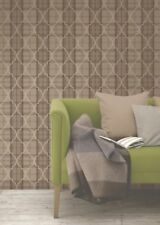 Damask Chocolate Gold Wallpaper Checked Gingham Cambridge Trellis Fine Decor