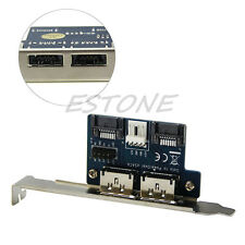Dual Port SATA to Double Power Over 12V ESATA+5V Adapter Convert Expansion Card