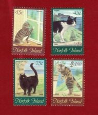Cats Australian Postal Stamps by State & Territory