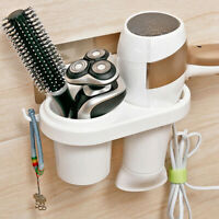 Practical Wall-Mounted Hair Dryer Holder Household Storage Organizer ONE