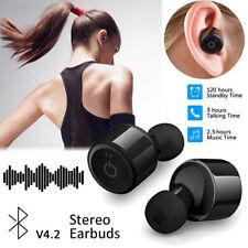 Une paire Mini Oreillette écouteur Casque Bluetooth 4.2 TWS Sans fil Stéréo Mic