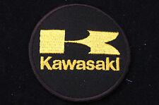 Gold Kawasaki Iron/Sew On Patch - Biker - Ton Up Boys -  No909