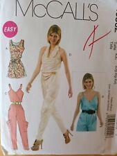 McCall's Sewing Pattern M6362-Misses' JUMPSUITS-2 Lengths-Sash-Size: 16-26-UNCUT