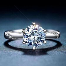 Gorgeous Women Jewelry 925 Silver Rings White Sapphire Wedding Ring Sz 6-10