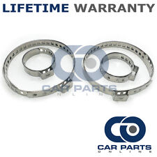 CAR ATV FITS 99% OF VEHICLES CV BOOT STAINLESS STEEL CLAMPS PAIR X 2