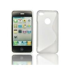 Housse Silicone Coque Etui Protection ★★ IPHONE 4 et 4S ★★ Blanc Design