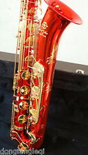 New Red Baritone Saxophone with Low A high F customized by Eastern Music