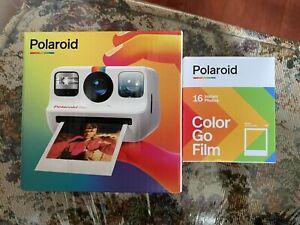 Polaroid Go Instant Camera + Polaroid Go Color Film Double Pack