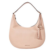 NWT MICHAEL KORS LYDIA OYSTER LARGE LEATHER HOBO BAG PURSE~$298~DUSTBAG