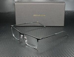 DOLCE & GABBANA DG1309 1277 Matte Black Gunmetal Demo Lens 55 mm Mens Eyeglasses