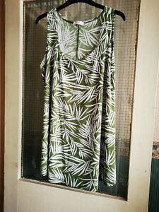 Kim Co Swing Sleeveless Tunic Green Size M/L