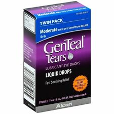 Genteal tears  Liquid drops twin pack EXP:10/20