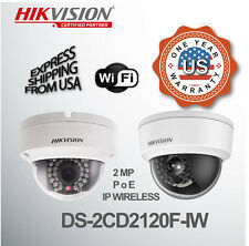 Wifi IP Dome Network Camera 2MP 2.8 mm Buit in SD Card Hikvision DS-2CD2120F-IW