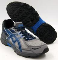 Asics Gel-Venture 6 Men's Running Shoes Aluminum/Black/Blue/Grey Sz 8 M New