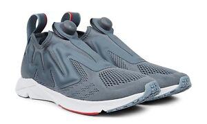 REEBOK Pump Supreme Engine Low-Top Mesh Slip-On Sneakers NO LACES Gray US 9 NIB!