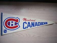 1960'S 1970'S 1980'S MONTREAL CANADIENS NHL HOCKEY FLAG PENNANT NICE!!
