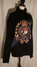 NWT Polo Ralph Lauren Crest Wool Turtleneck Sweater Size L $368