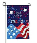 Proud to Be An American Fireworks Double Sided Patriotic Garden Flag 4th of July