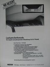 MH-DEZENT Lautsprecherkonsole für Heckeinbau Mercedes 200 bis 320 TE W124 T