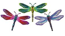 Dragonfly Metal Hanging Metal Wall Art Home Garden Decor Ornament *Set/3* 29 cm