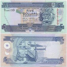 Solomon Islands 5 Dollars 2008 UNC P-26b