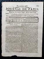 Paoli Députés Corses 1791 Assemblée Nationale Montaigu Sillery Révolution Vendée