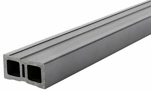 30x50 mm WPC - Unterkonstruktion, Dunkelgrau, Länge 4,00m  4,50€/lfm