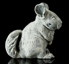 Marble chinchilla statue, Russian stone art miniature realistic animal figurine