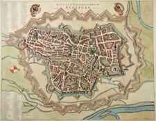 AUGSBURG GROßE KOL. KUPFERSTICH ANSICHT JANSSONIUS DE WIT 1657