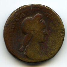 Romaine Sabine Sesterce Rome 128-136 Rv/ VESTA Rare