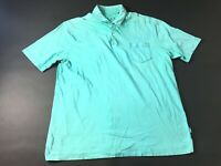 Tommy Bahama Relax Mens Blue Short Sleeve Front Pocket Polo Shirt Size Large