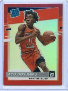 2021-22 Panini Chronicles Draft AYO DOSUNMU Optic Rated Rookie RC RED PRIZM /149