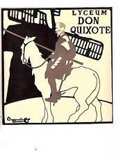 Unframed Poster Art Fantasy Don Quixote with Windmill Lyceum(m76)