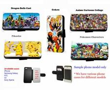 Dragon Hoden Pokemon Anime Collage leder handyhülle Samsung iPhone Xperia HTC LG