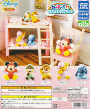 Takara Tomy Disney Character Nebosuke Figure Gashapon Mickey Pooh Set 5pcs