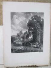 Vintage Print,VALLEY FARM,Gallery,British Art,D.Appleton