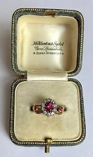 Hand Cluster Ring Circa 1800's A Wonderful Georgian Ruby & Diamond