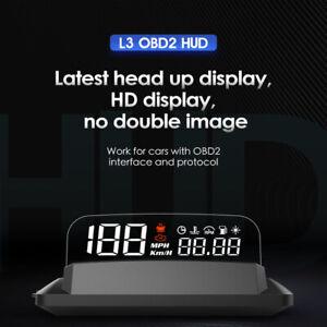 "5"" L3 OBD2 Heads Up Display Car SUV HUD Overspeed/Temperature/Low Pressure Alarm"