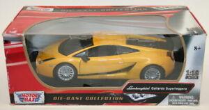 Motormax 1/18 Scale Model Car 73181 - Lamborghini Gallardo Superleggera - Yellow