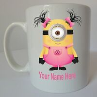 DESPICABLE ME Personalised Minion Mug Birthday Christmas Gift Present Design C