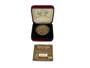 Mark McGwire Bronze Coin Highland Mint 1 of 25000 with COA & Box